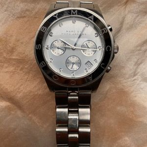 Marc by Marc Jacobs Oversized Silver Watch